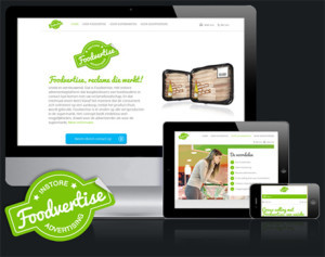 Foodvertise website en logo gemaakt door 4Bit